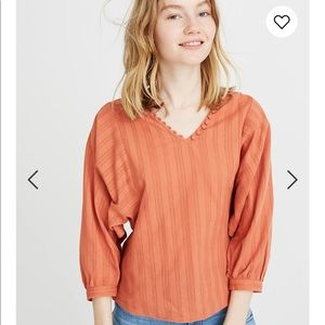 Madewell peasant top
